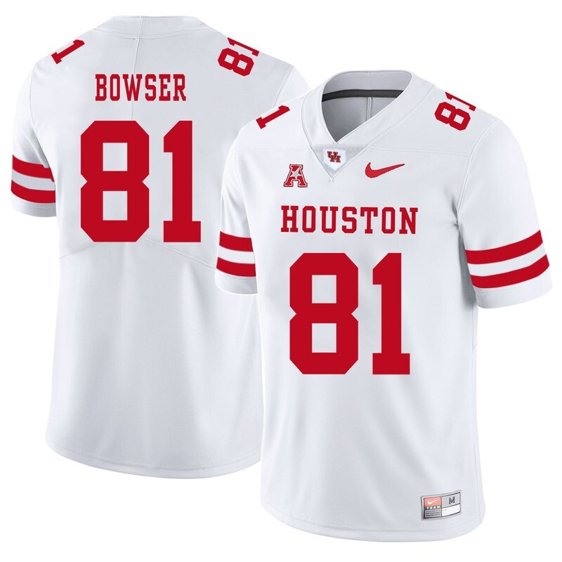 Houston Cougars #81 Tyus Bowser College Football Jersey White