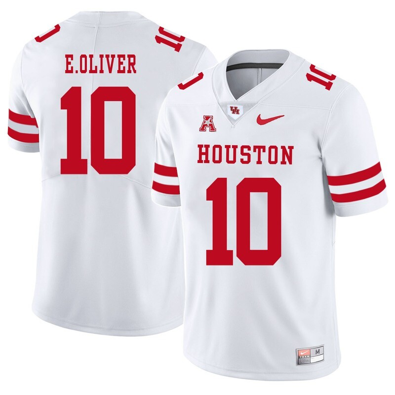 Houston Cougars #10 Ed Oliver College Football Jersey White
