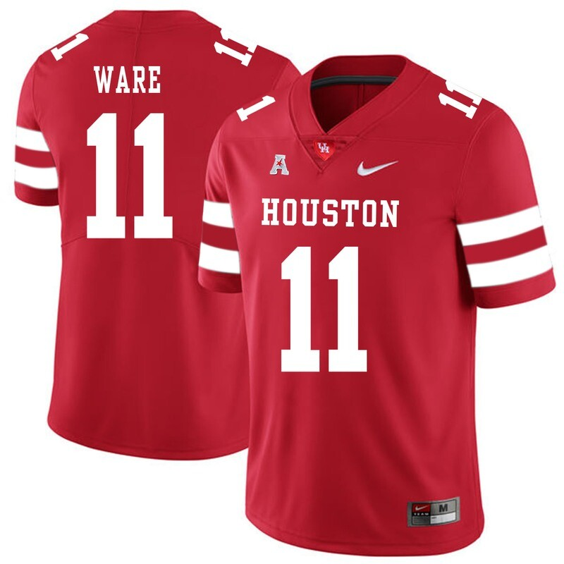 Houston Cougars #11 Andre Ware College Football Jersey Red