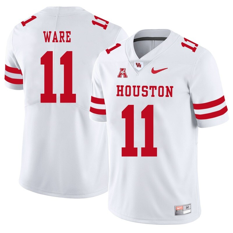 Houston Cougars #11 Andre Ware College Football Jersey White