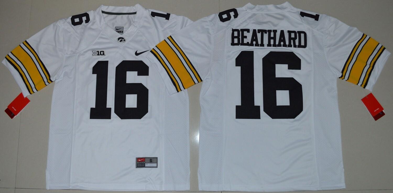 Iowa Hawkeyes #16 CJ Beathard NCAA College Football Jersey White