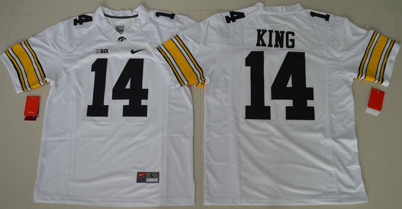Iowa Hawkeyes #14 Desmond King NCAA College Football Jersey White