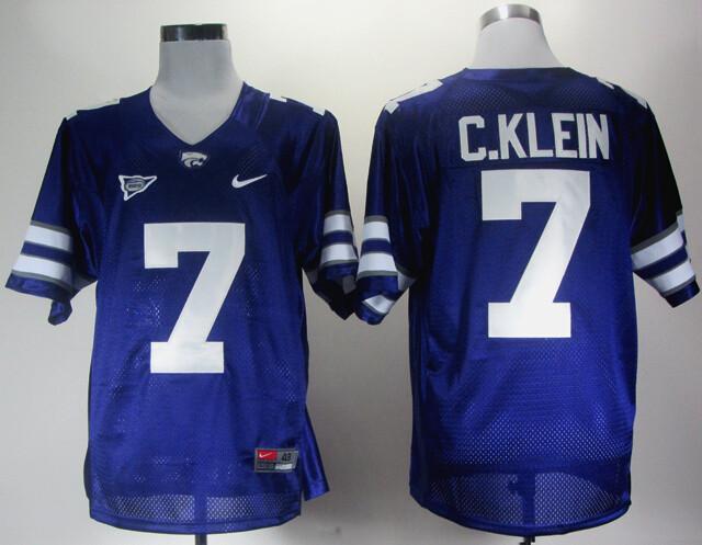 Kansas State Wildcats #7 Collin Klein College Football Jersey Purple