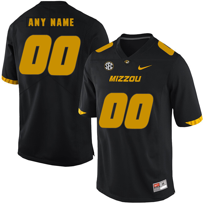 Missouri Tigers Custom Name and Number College Football Jersey Black
