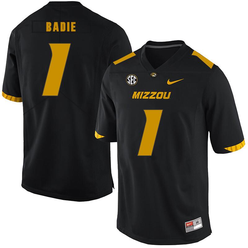 Missouri Tigers #1 Tyler Badie NCAA College Football Jersey Black