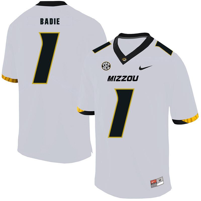 Missouri Tigers #1 Tyler Badie NCAA College Football Jersey White