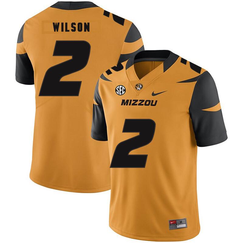Missouri Tigers #2 Micah Wilson NCAA College Football Jersey Gold