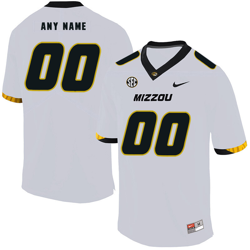 Missouri Tigers Custom Name and Number College Football Jersey White
