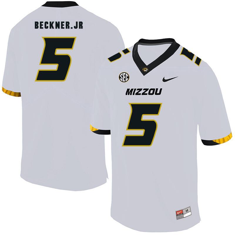 Missouri Tigers #5 Terry Beckner Jr NCAA College Football Jersey White