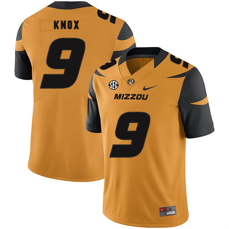 Missouri Tigers #9 Jalen Knox College Football Jersey Black