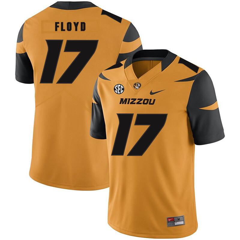 Missouri Tigers #17 Richaud Floyd NCAA College Football Jersey Gold