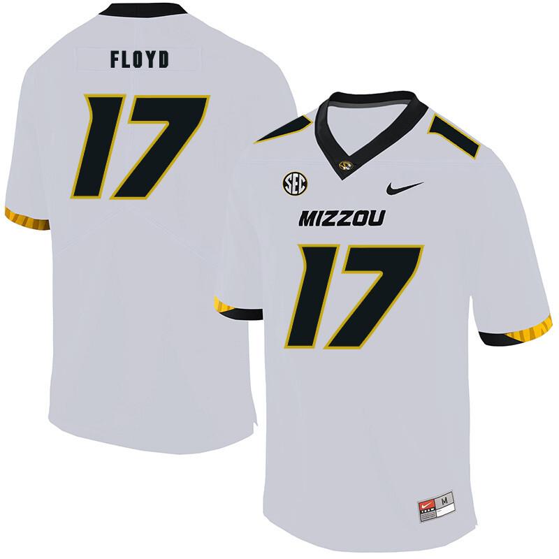 Missouri Tigers #17 Richaud Floyd NCAA College Football Jersey White