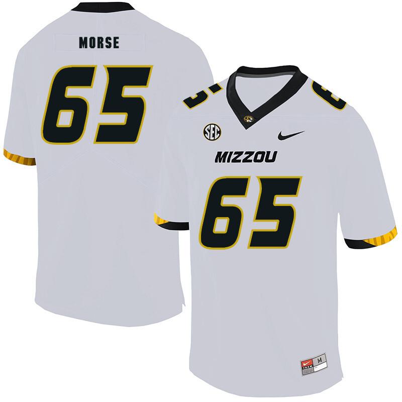 Missouri Tigers #65 Mitch Morse NCAA College Football Jersey White
