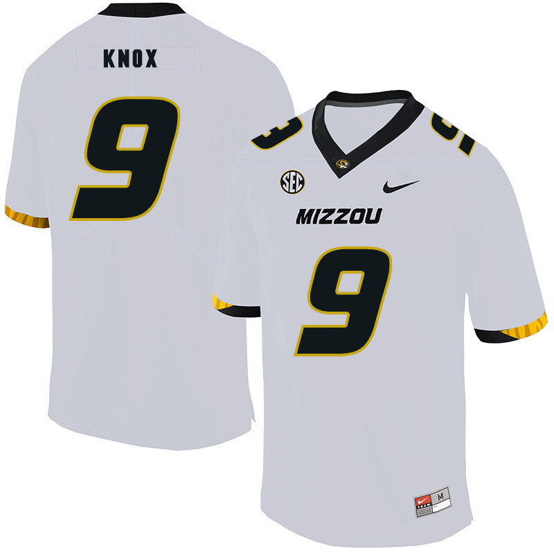 Missouri Tigers #9 Jalen Knox College Football Jersey White