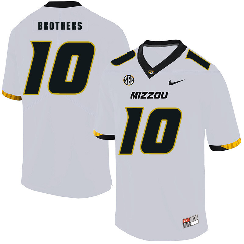 Missouri Tigers #10 Kentrell Brothers College Football Jersey White