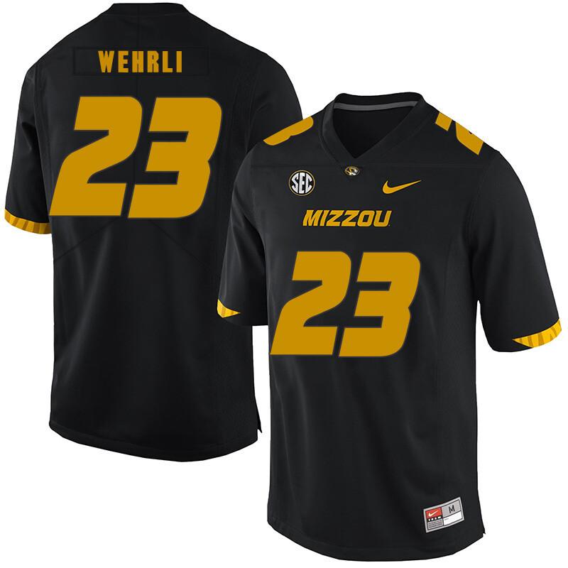 Missouri Tigers #23 Roger Wehrli NCAA College Football Jersey Black