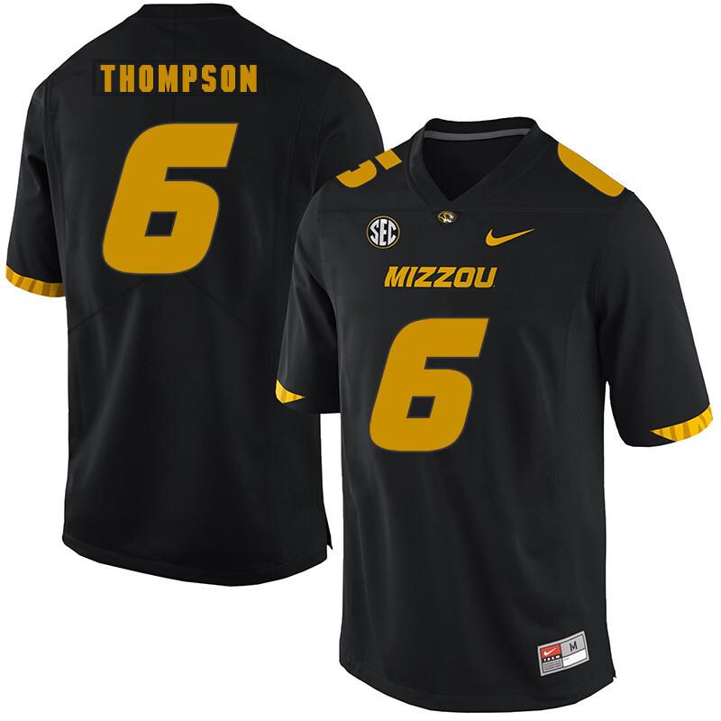Missouri Tigers #6 Khmari Thompson College Football Jersey Black
