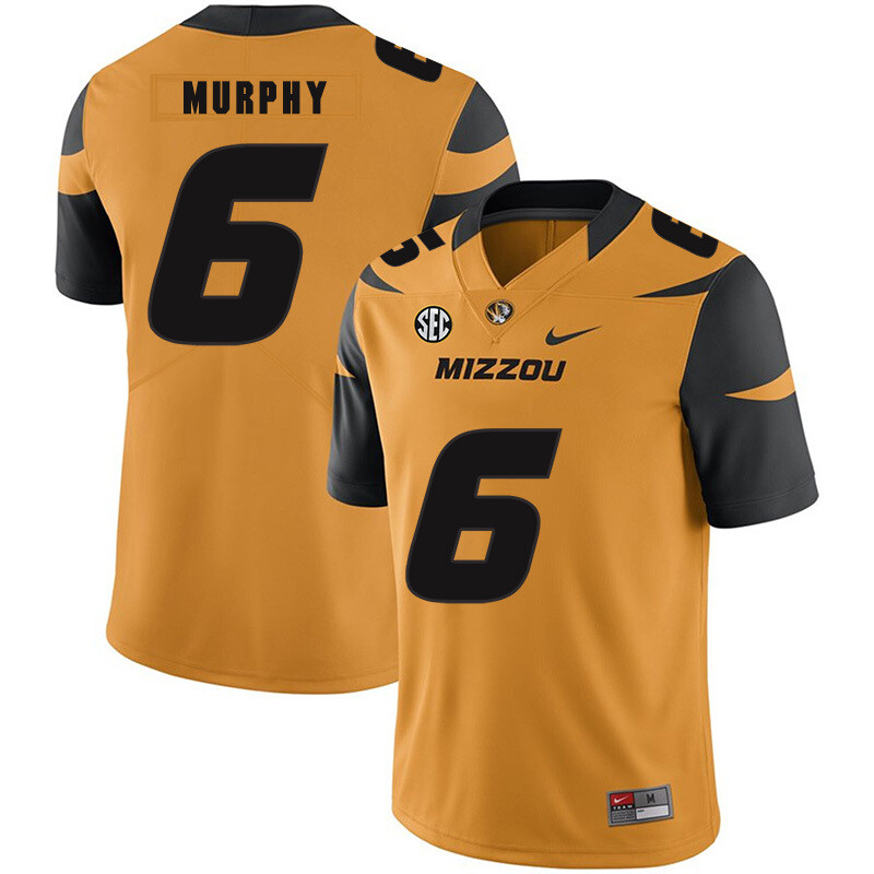 Missouri Tigers #6 Marcus Murphy College Football Jersey Gold