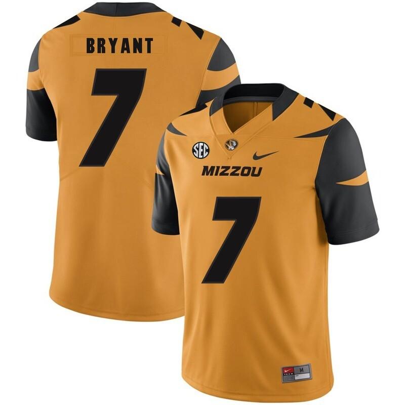 Missouri Tigers #7 Kelly Bryant College Football Jersey Gold