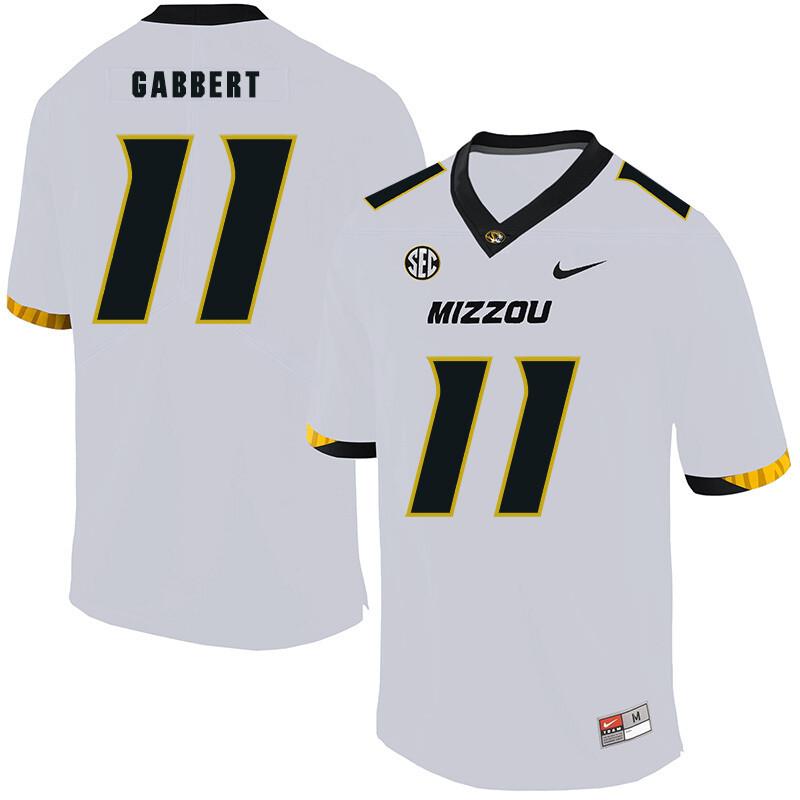 Missouri Tigers #11 Blaine Gabbert College Football Jersey White
