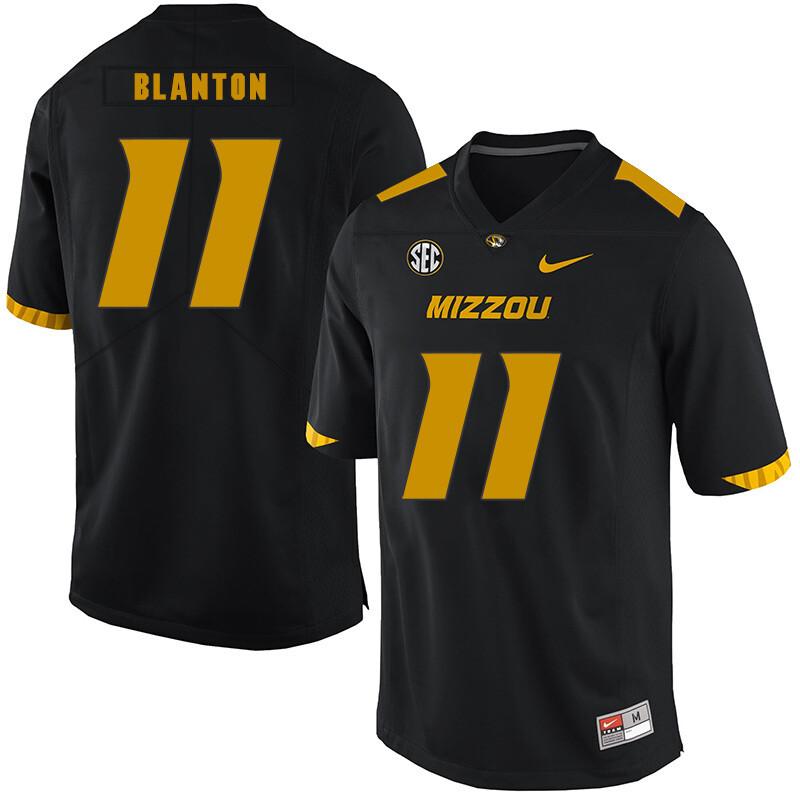 Missouri Tigers #11 Kendall Blanton College Football Jersey Black