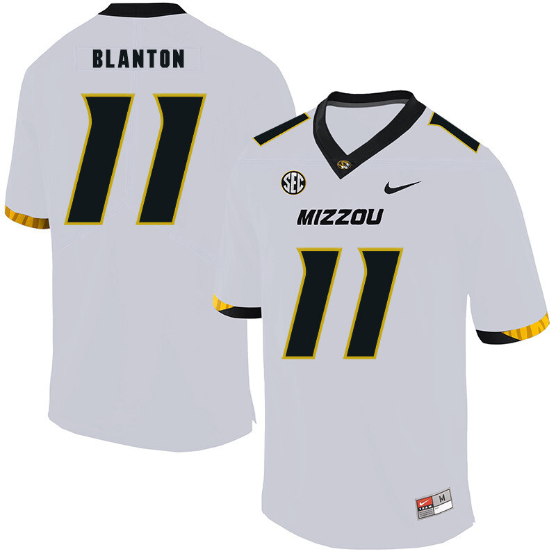 Missouri Tigers #11 Kendall Blanton College Football Jersey White