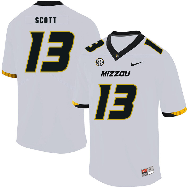 Missouri Tigers #13 Kam Scott NCAA College Football Jersey White