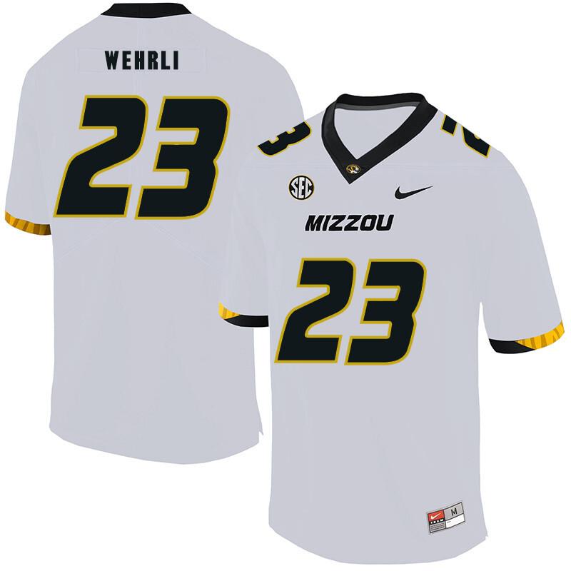 Missouri Tigers #23 Roger Wehrli NCAA College Football Jersey White