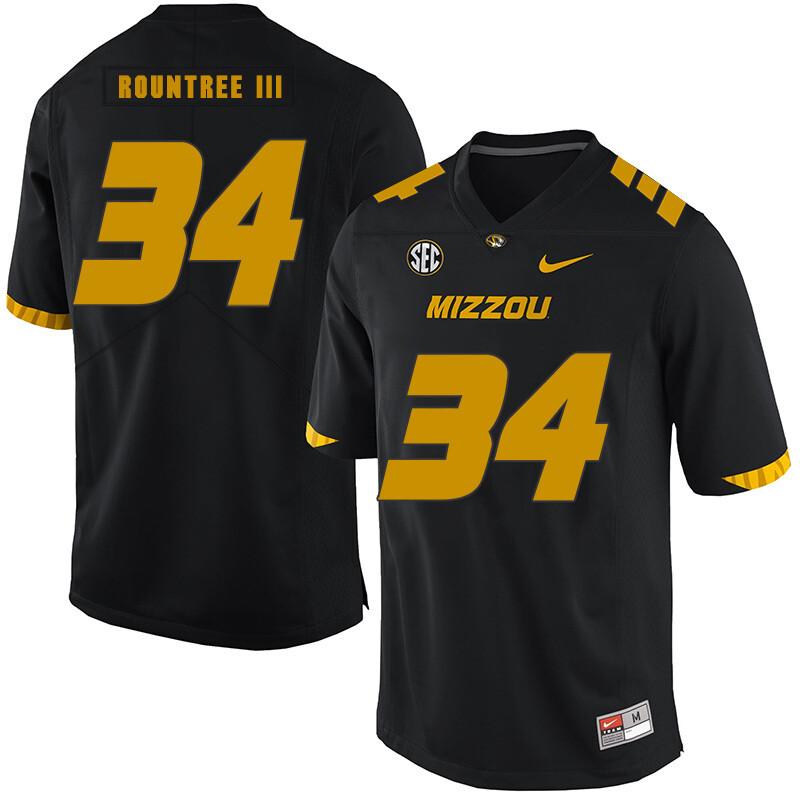 Missouri Tigers #34 Larry Rountree III College Football Jersey Black