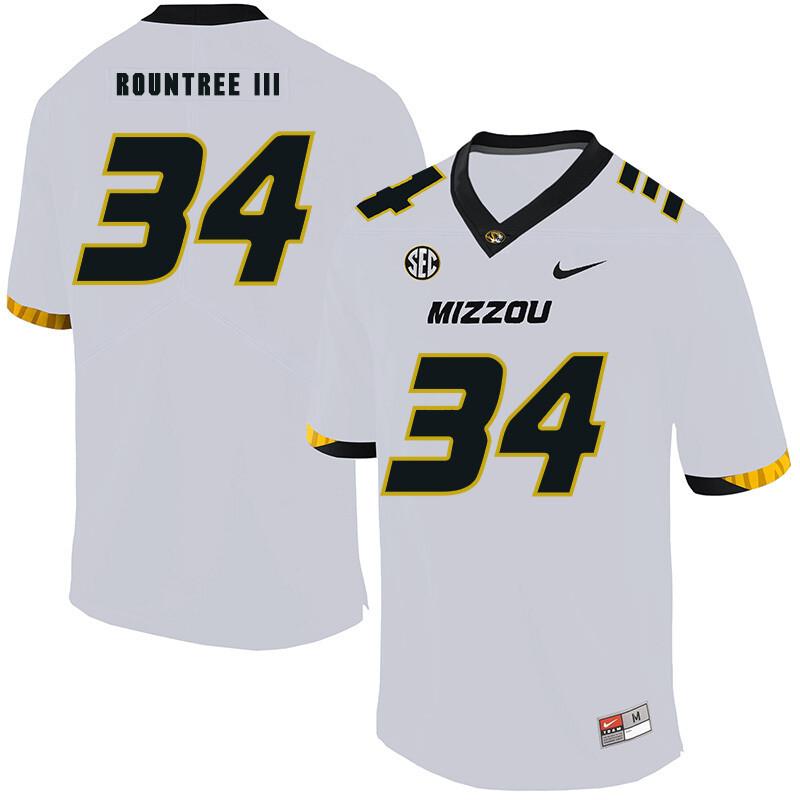 Missouri Tigers #34 Larry Rountree III College Football Jersey White