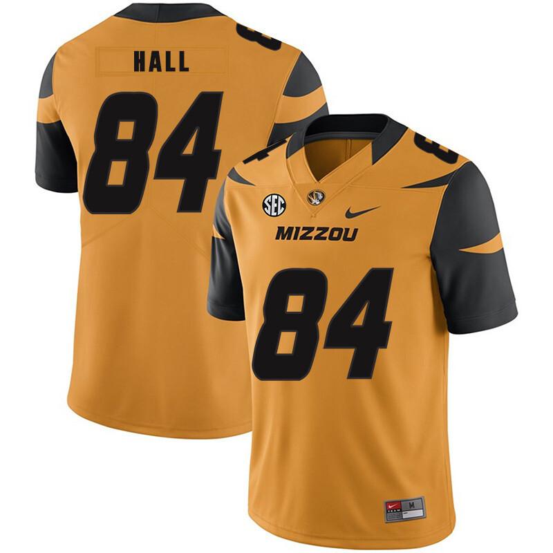 Missouri Tigers #84 Emanuel Hall NCAA College Football Jersey Gold