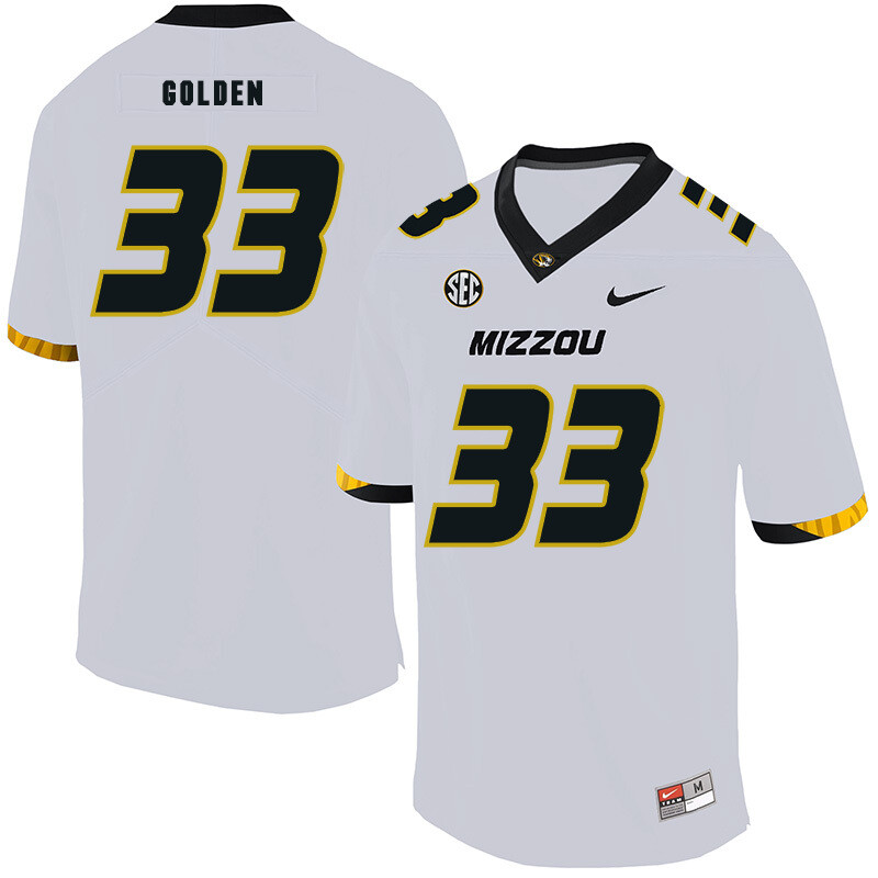 Missouri Tigers #33 Markus Golden NCAA College Football Jersey White