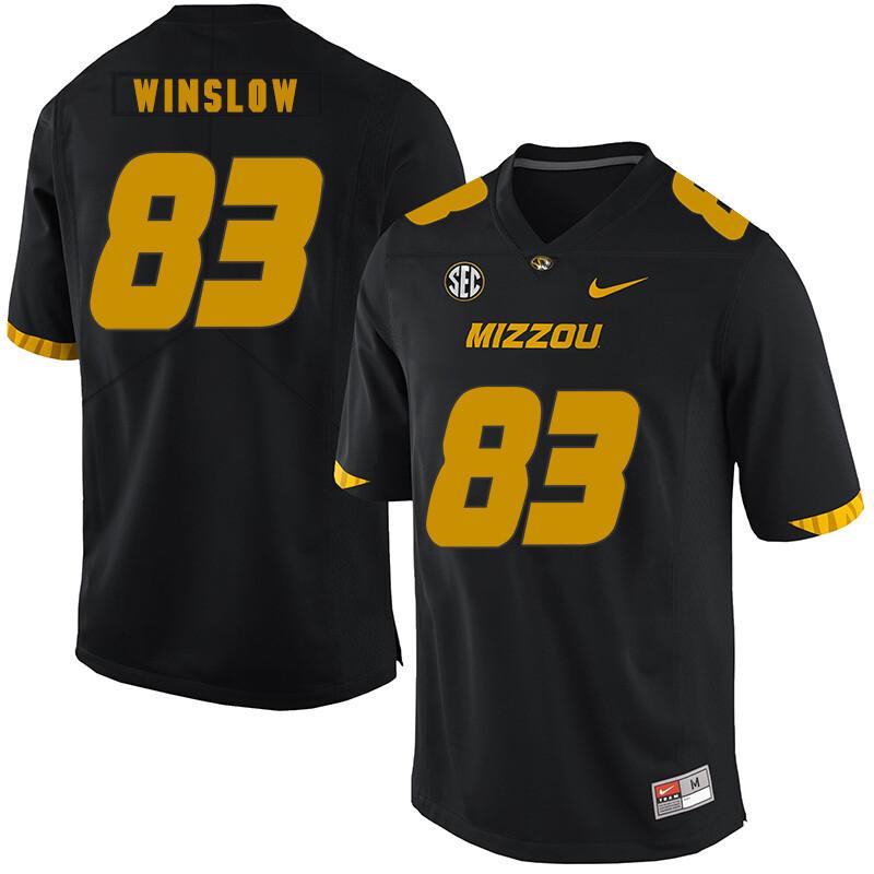 Missouri Tigers #83 Kellen Winslow NCAA College Football Jersey Black