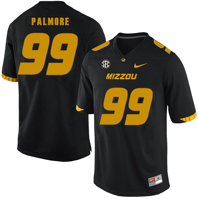 Missouri Tigers #99 Walter Palmore College Football Jersey Black