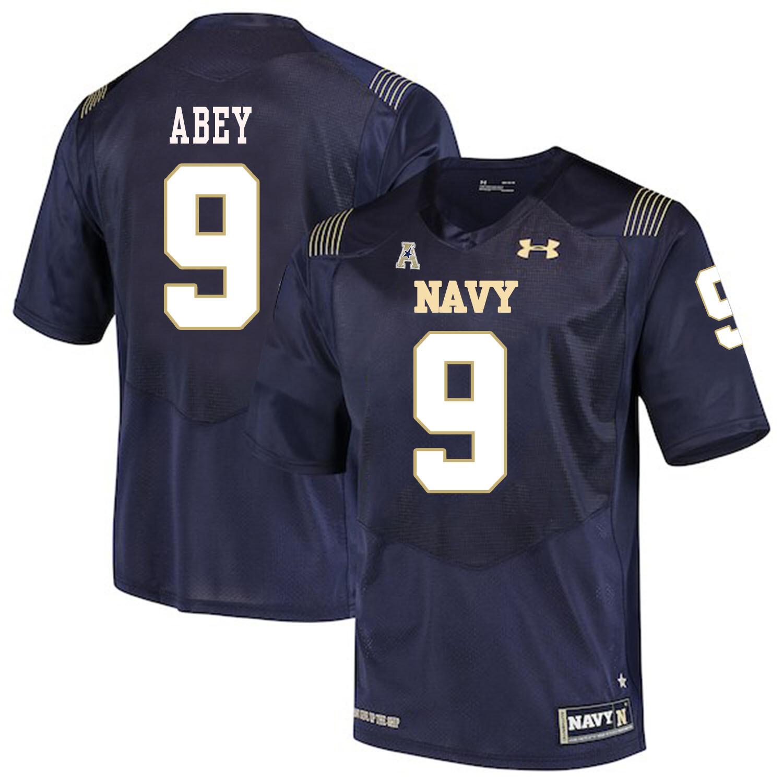 Navy Midshipmen #9 Zach Abey NCAA College Football Jersey Stitched