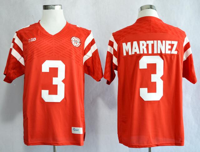 Nebraska Huskers #3 Taylor Martinez College Football Jersey Red