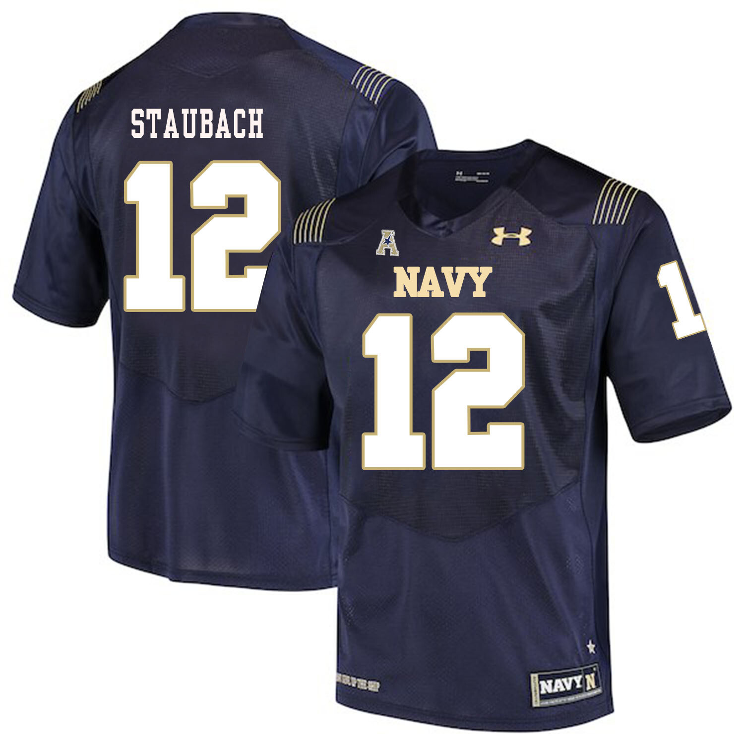 Navy Midshipmen #12 Roger Staubach College Football Jersey Stitched