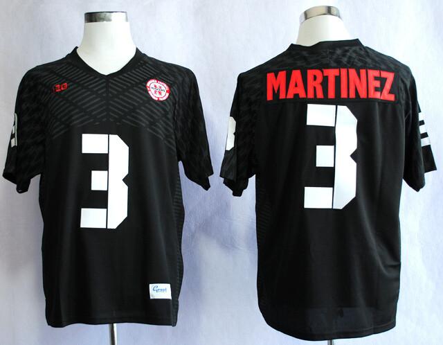 Nebraska Huskers #3 Taylor Martinez College Football Jersey Black With Name