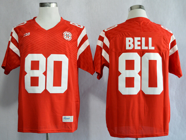 Nebraska Huskers #80 Kenny Bell College Football Jersey Stitched Red
