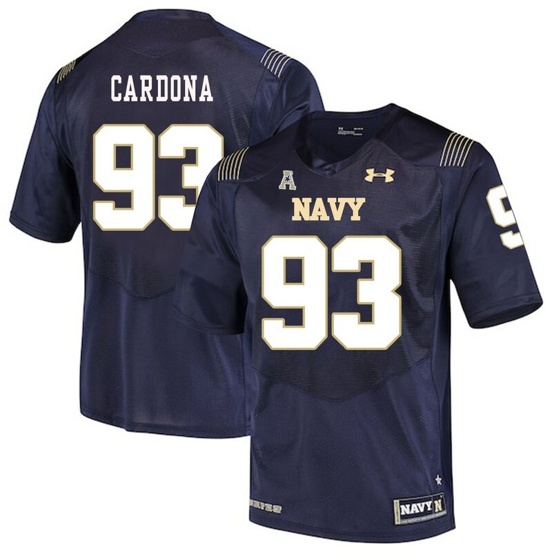 Navy Midshipmen #93 Joe Cardona College Football Jersey Stitched