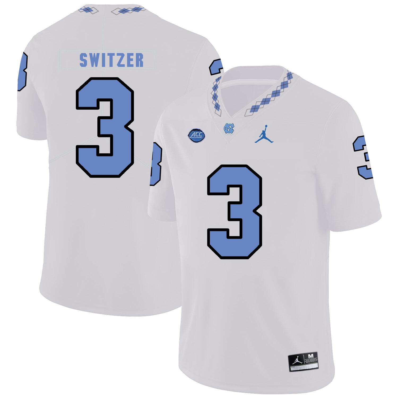 North Carolina Tar Heels #3 Ryan Switzer NCAA Football Jersey White