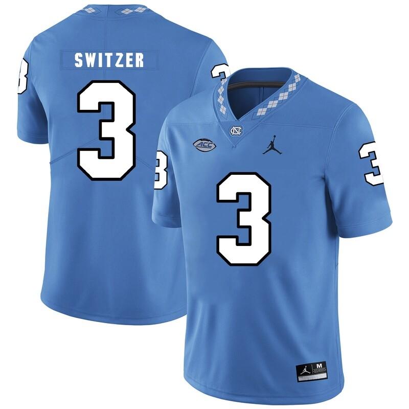 North Carolina Tar Heels #3 Ryan Switzer NCAA Football Jersey Blue