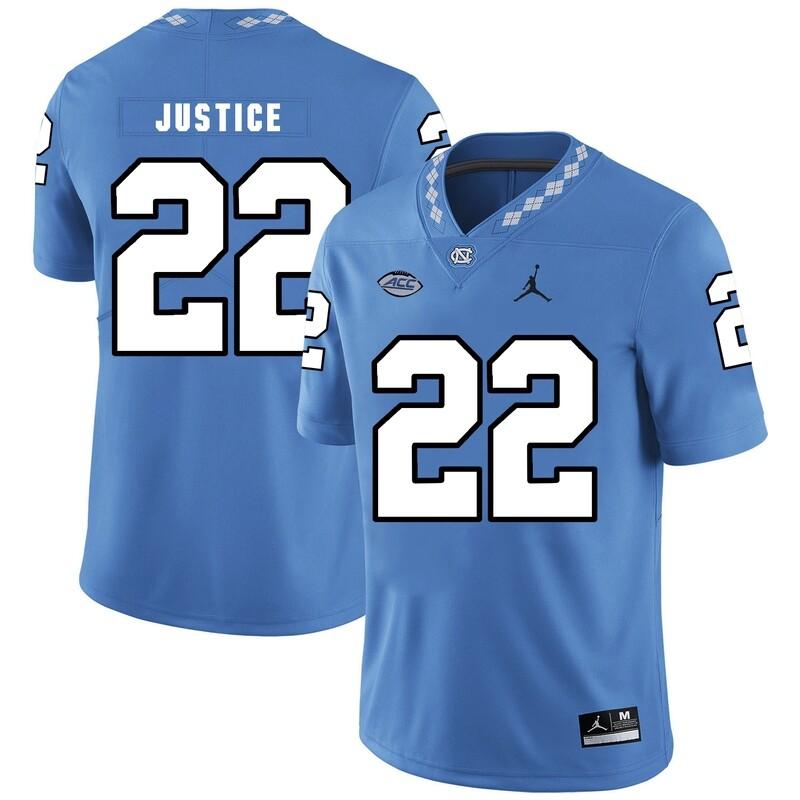 North Carolina Tar Heels #22 Charlie Justice Football Jersey Blue