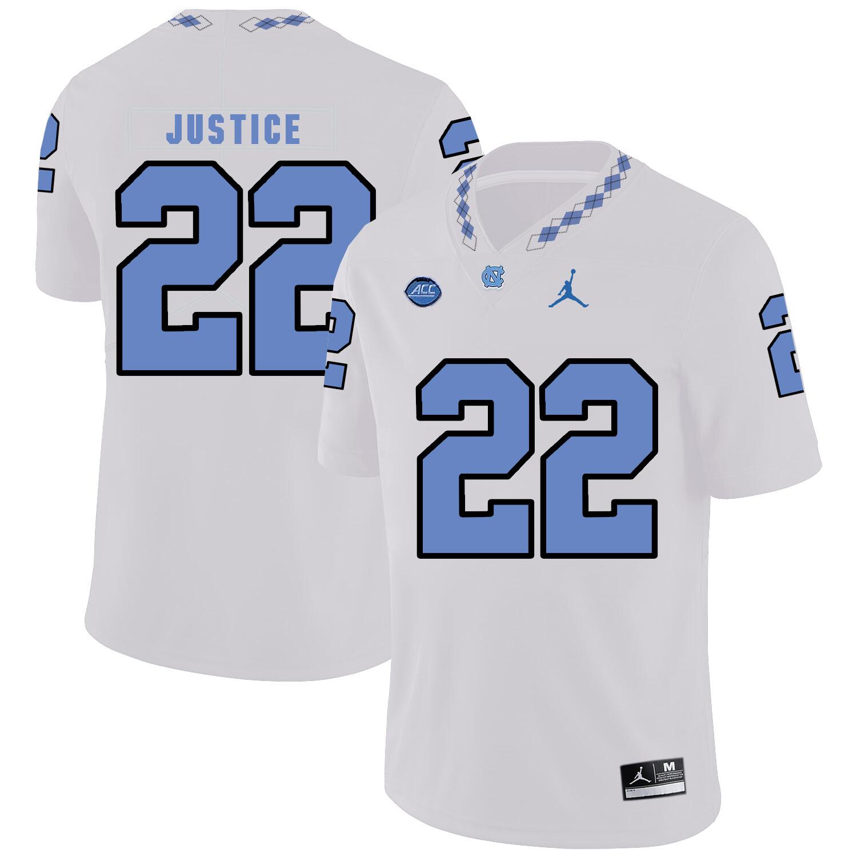 North Carolina Tar Heels #22 Charlie Justice Football Jersey White