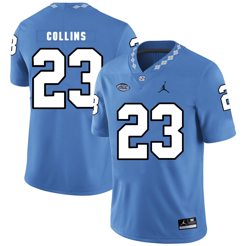 North Carolina Tar Heels #23 Cayson Collins Football Jersey Blue