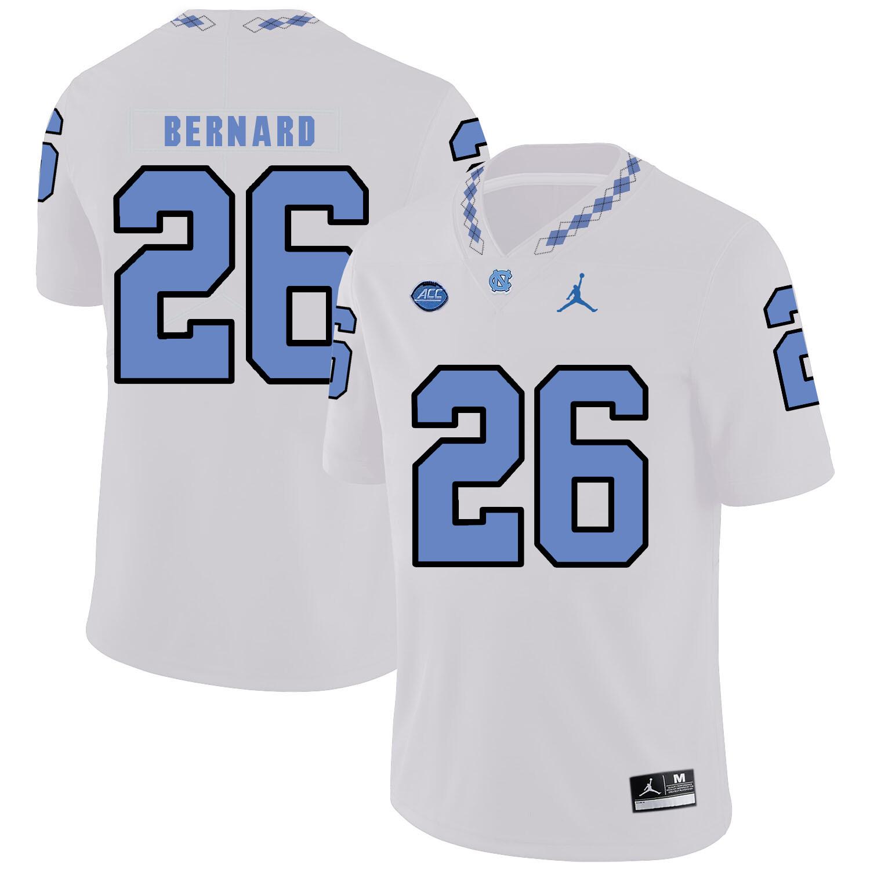North Carolina Tar Heels #26 Young Bernard Football Jersey White