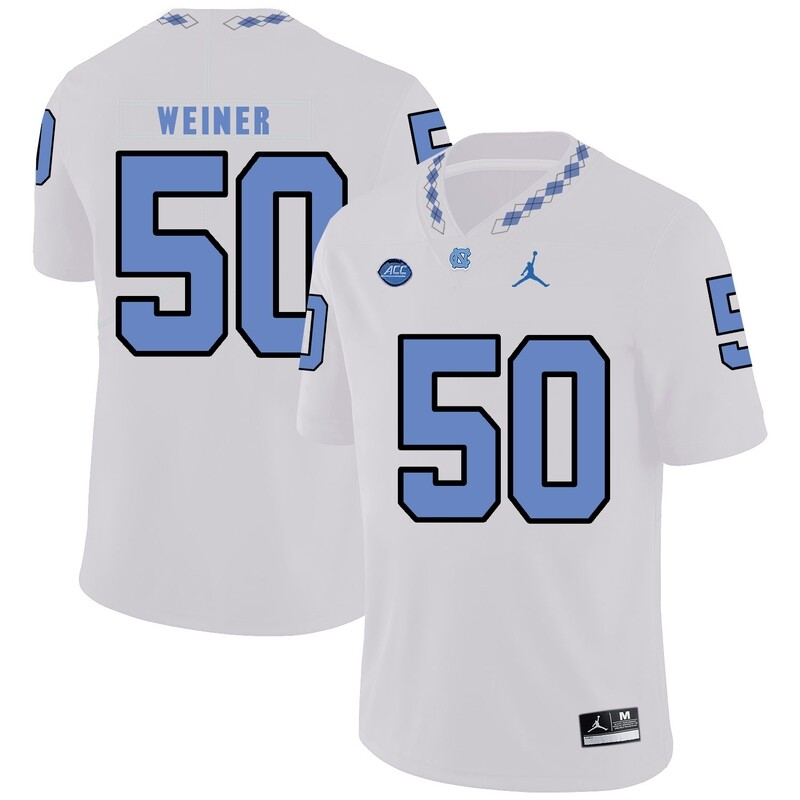 North Carolina Tar Heels #50 Art Weiner Football Jersey White
