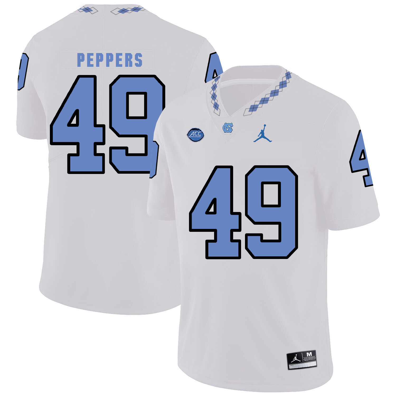 North Carolina Tar Heels #49 Julius Peppers Football Jersey White