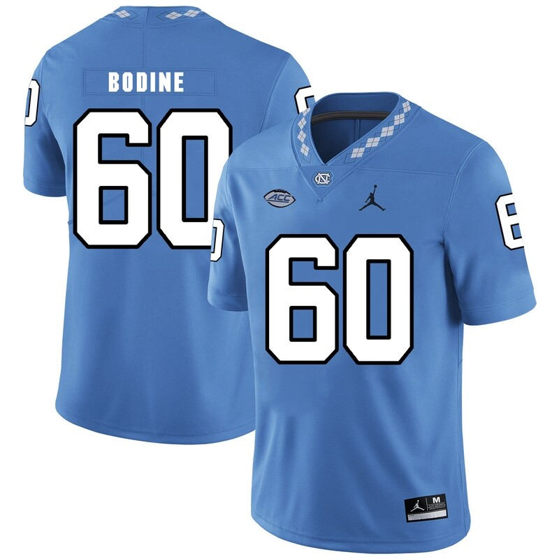 North Carolina Tar Heels #60 Russell Bodine Football Jersey Blue