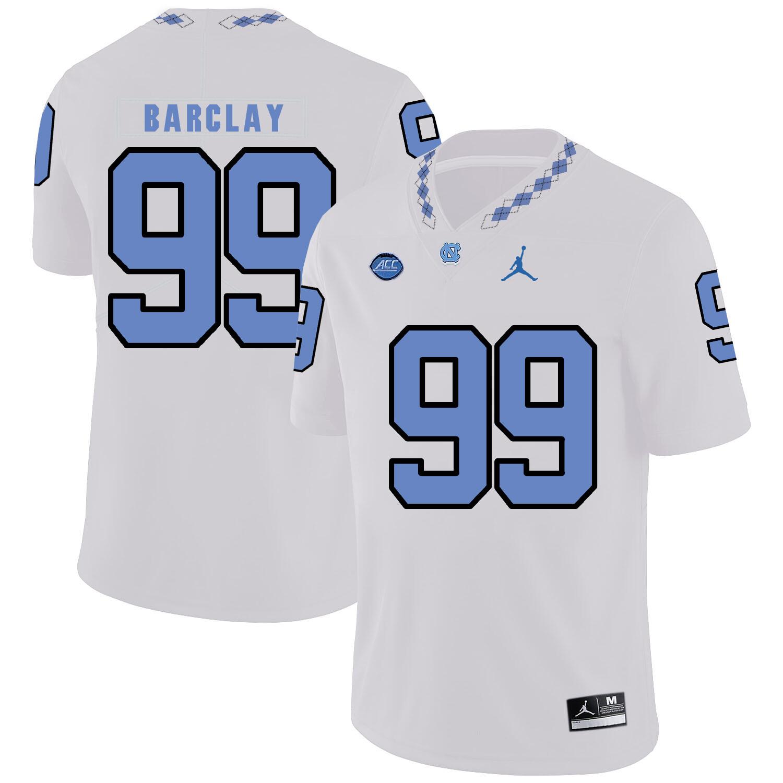North Carolina Tar Heels #99 George Barclay Football Jersey White